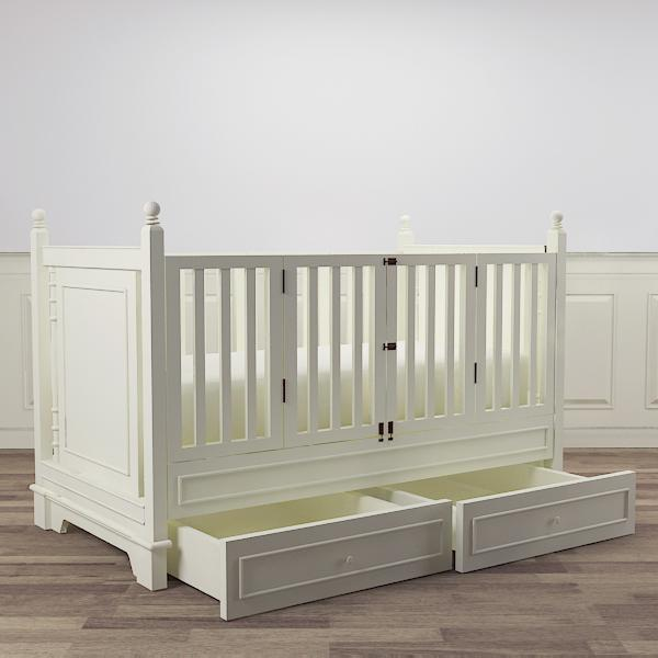 jeremy spindle crib additional drawers